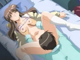 Hottie has her pussy eaten and stuffed in hentai scene